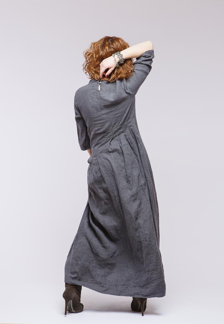 Повседневное платье Kayros 4/7графит-44-46