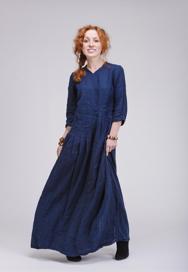 Платье-макси Kayros 4/7индиго-44-46