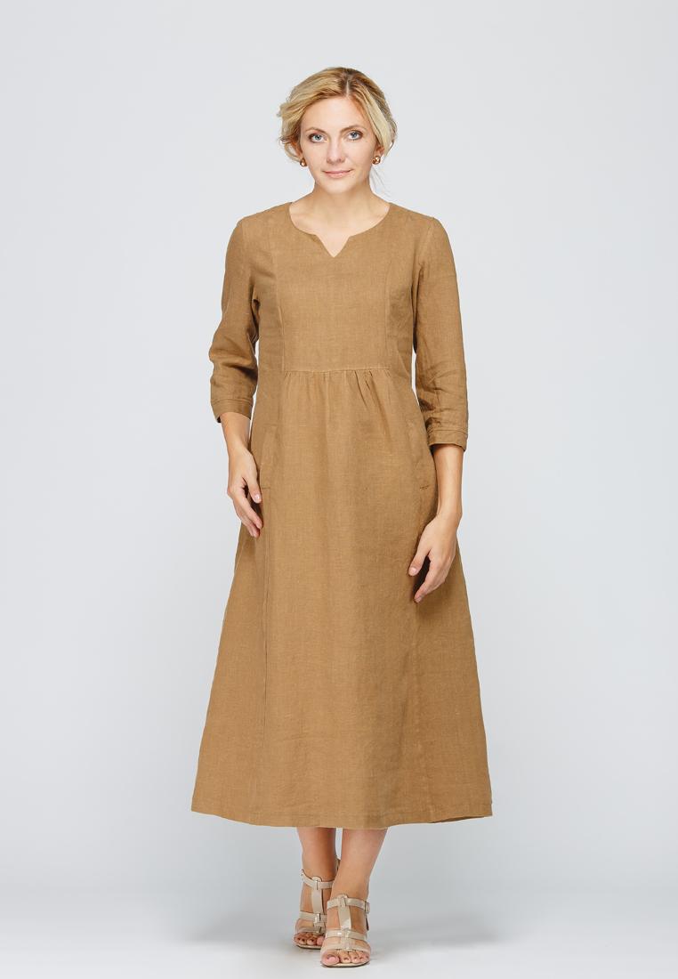 Летнее платье Kayros 2/128корица-48