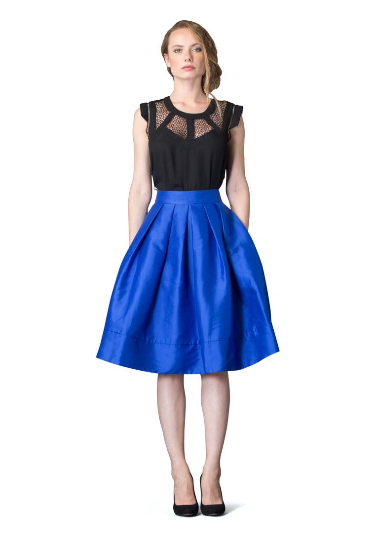 Широкая юбка Cavo CVDRLP001-blue-S