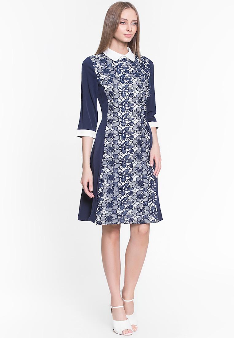 Повседневное платье Cavo CVDRMC098-blue-S