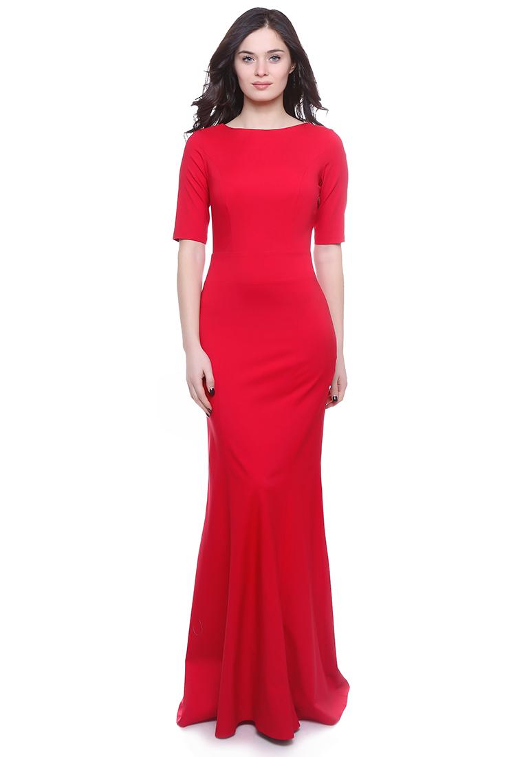 Платье-макси Grey Cat GPl00093V(petunia) красный 42