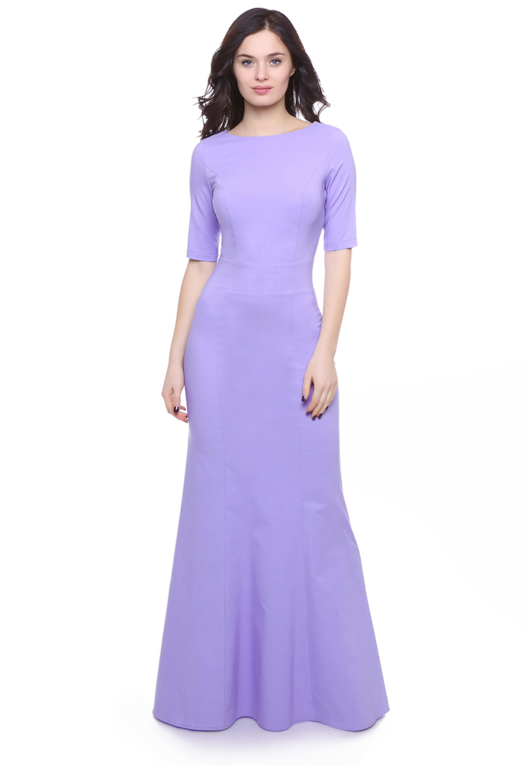 Вечернее / коктейльное платье Grey Cat GPl00093V(petunia) фиалковый 42