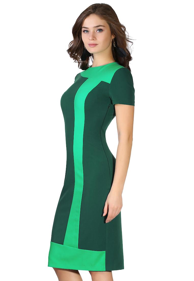 Повседневное платье Grey Cat GPl00034V(tuluza) зеленый 42