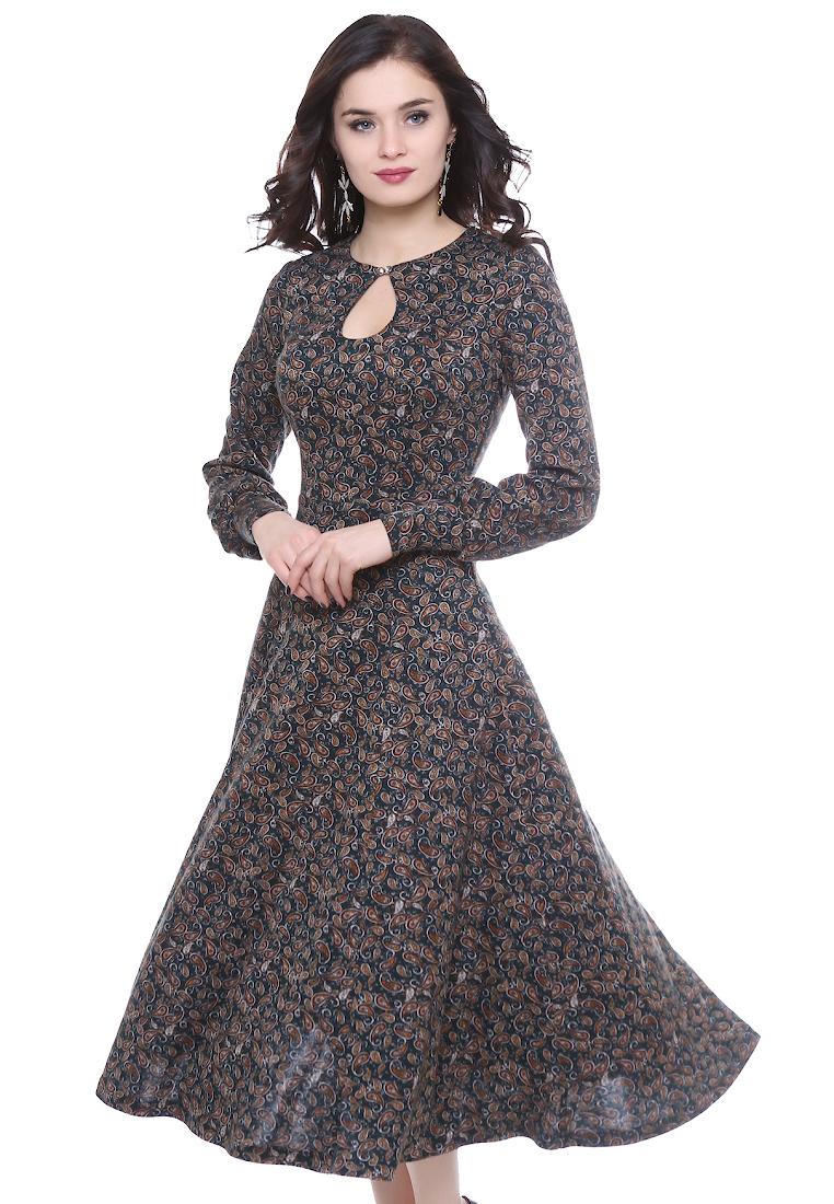 Вязаное платье Grey Cat GPl00111V(onika) темно-зеленый 42