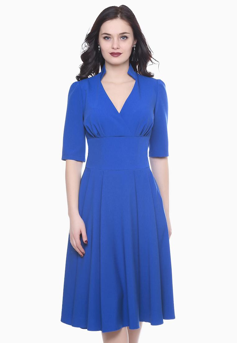 Платье-миди Grey Cat GPl00139V(flury) синий 42