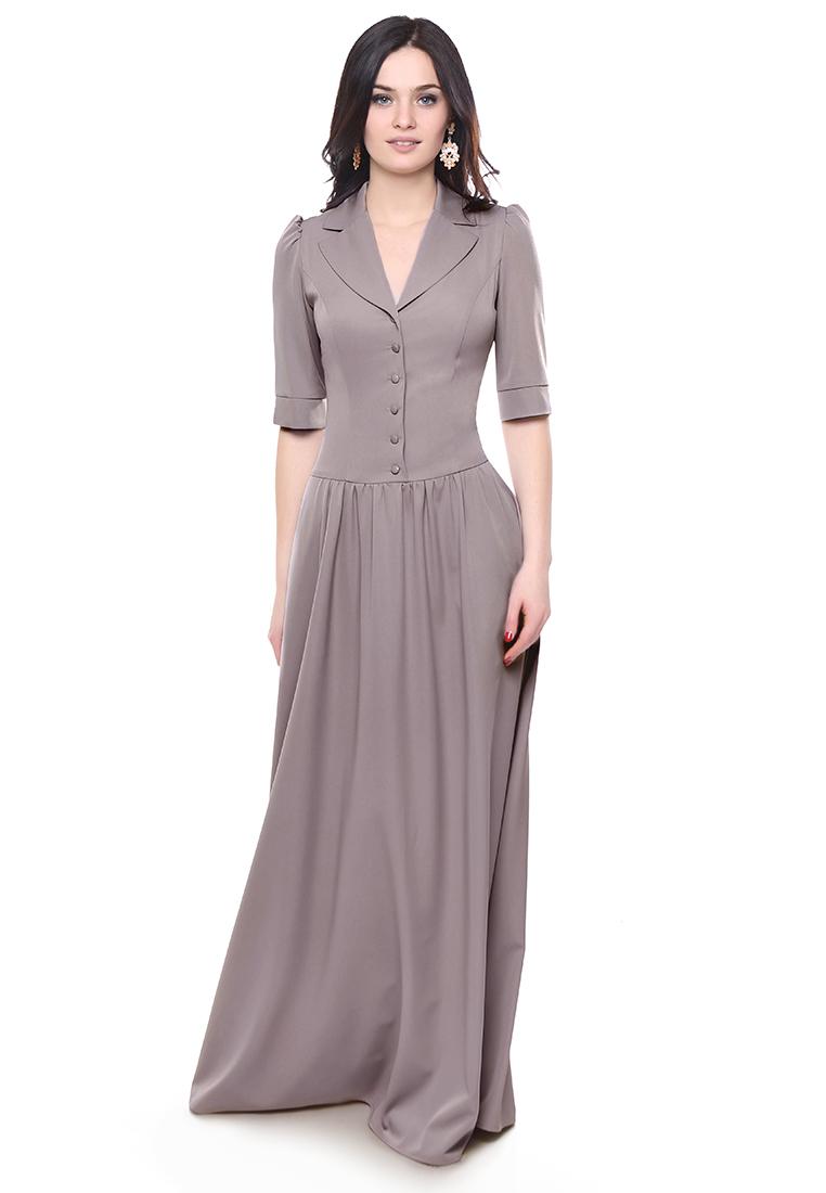 Летнее платье Grey Cat GPl00147V(galateya) серо-розовый 42