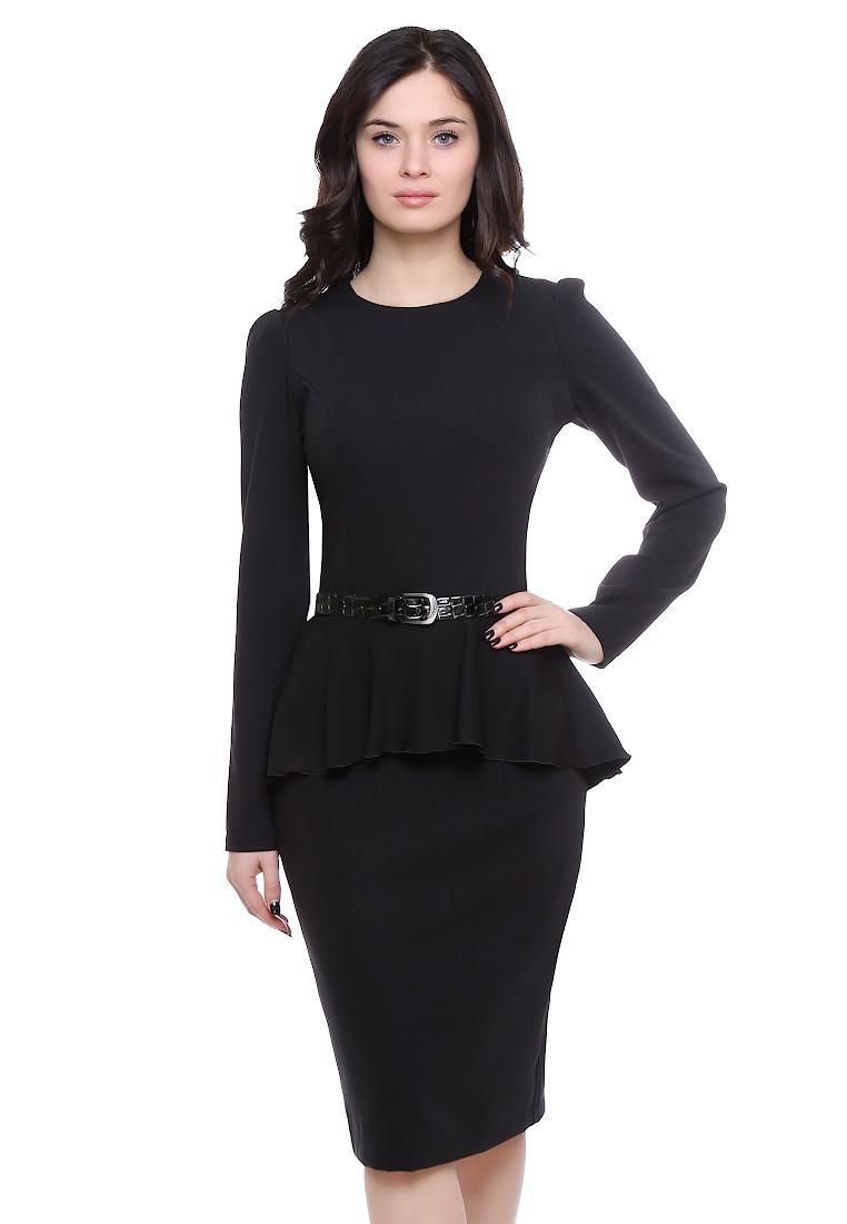 Деловое платье Grey Cat GPl00098V(beysy) черный 42