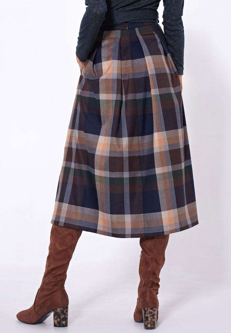 Широкая юбка LO 17172020/цветной/40