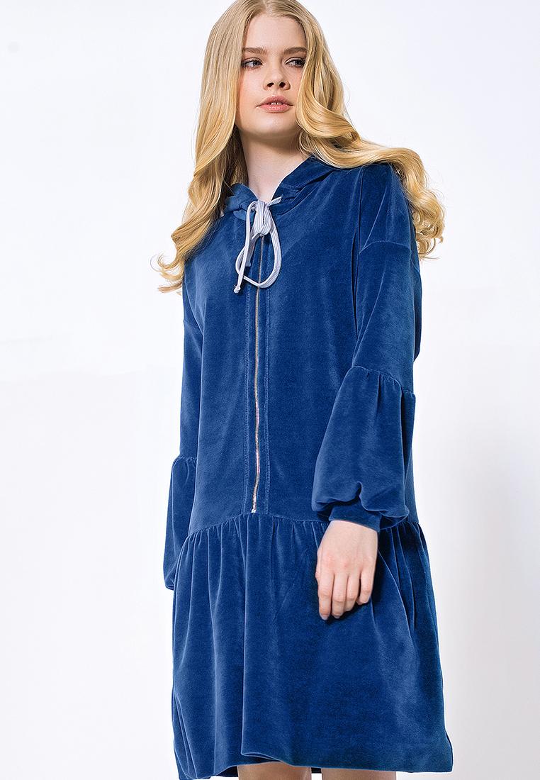 Повседневное платье ЯБРЕНД 03173001/синий/40