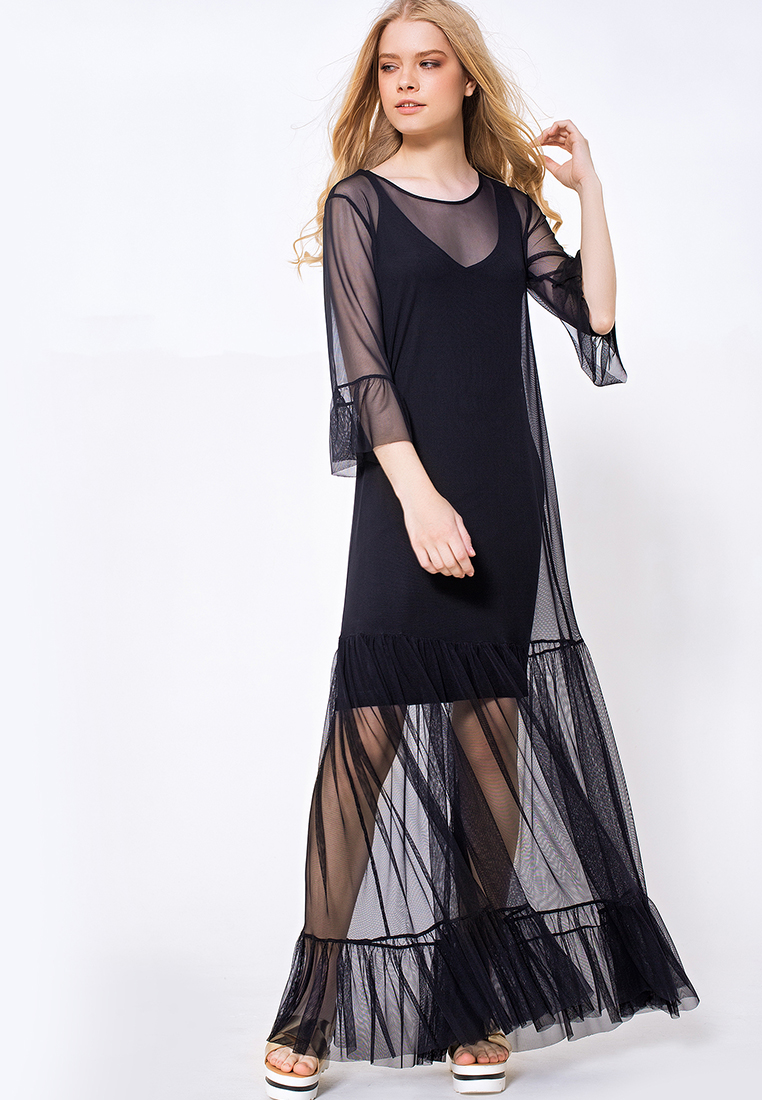 Вечернее / коктейльное платье ЯБРЕНД 03173007/черный/40