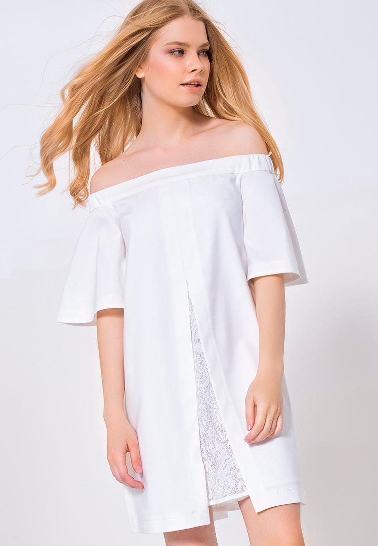 Платье-мини LO 03172012/айвори/40