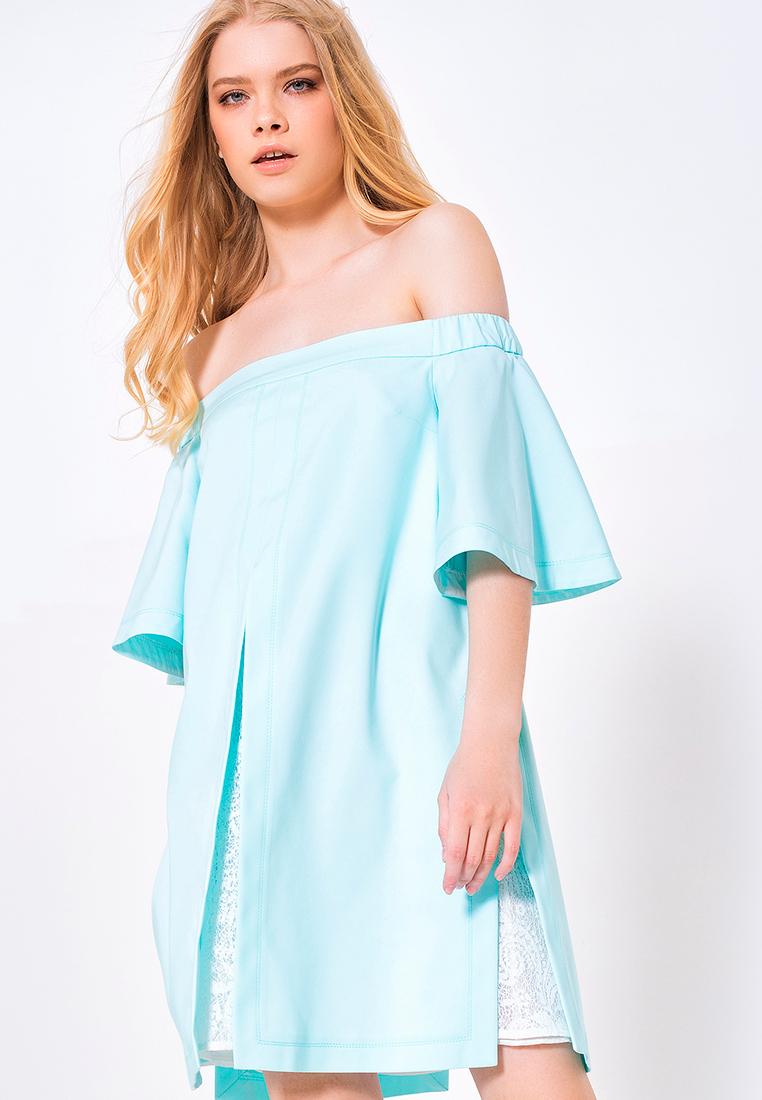 Платье-мини LO 03172012/мятный/40