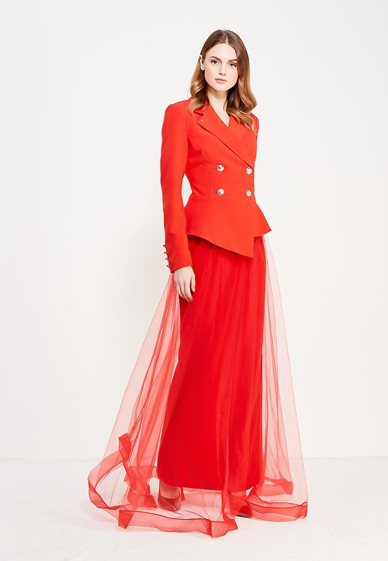 Костюм с юбкой MAZAL M06004-S-red
