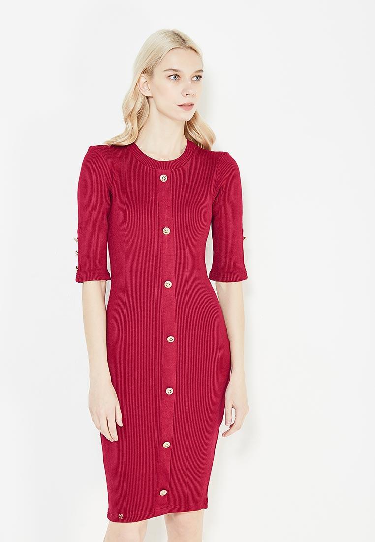 Повседневное платье MAZAL M07031-S- bordo