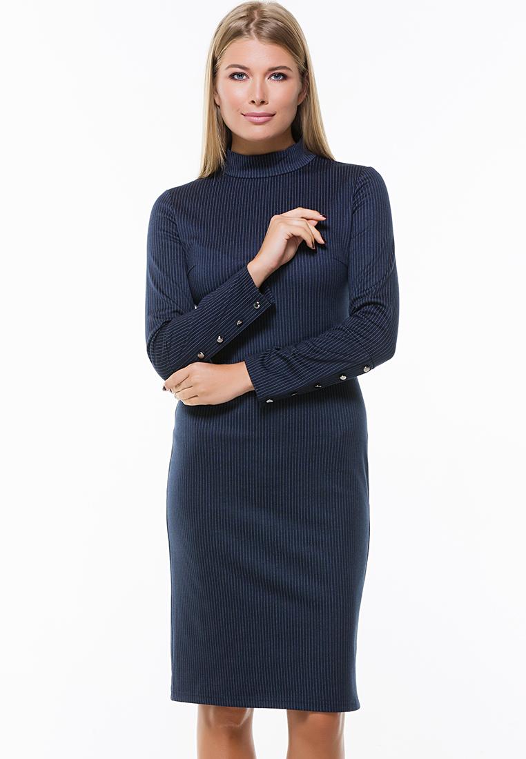 Деловое платье Remix 7564 blue 42