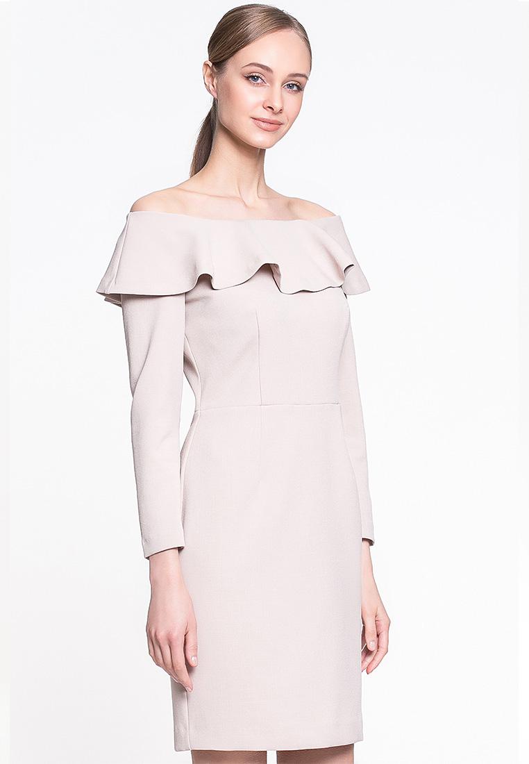 Вечернее / коктейльное платье GENEVIE Платье L 9518 бежевый  S