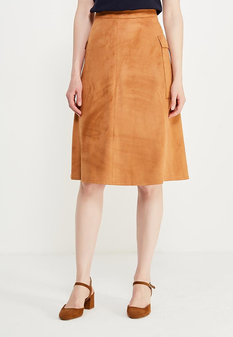 Широкая юбка Nife sp31_caramel