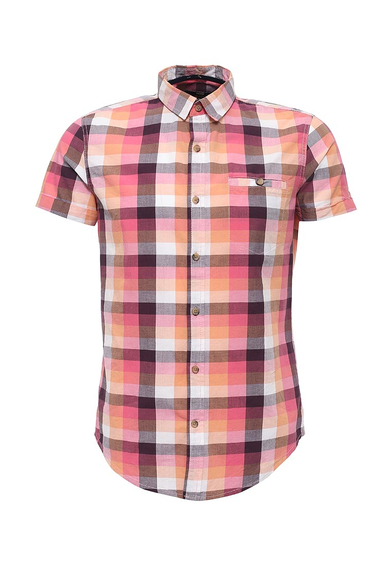 Рубашка с коротким рукавом oodji (Оджи) 3L410055M/39513N/4143C