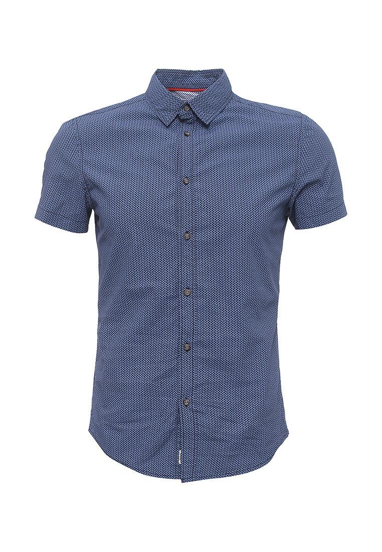 Рубашка с коротким рукавом oodji (Оджи) 3L410102M/39312N/7975G
