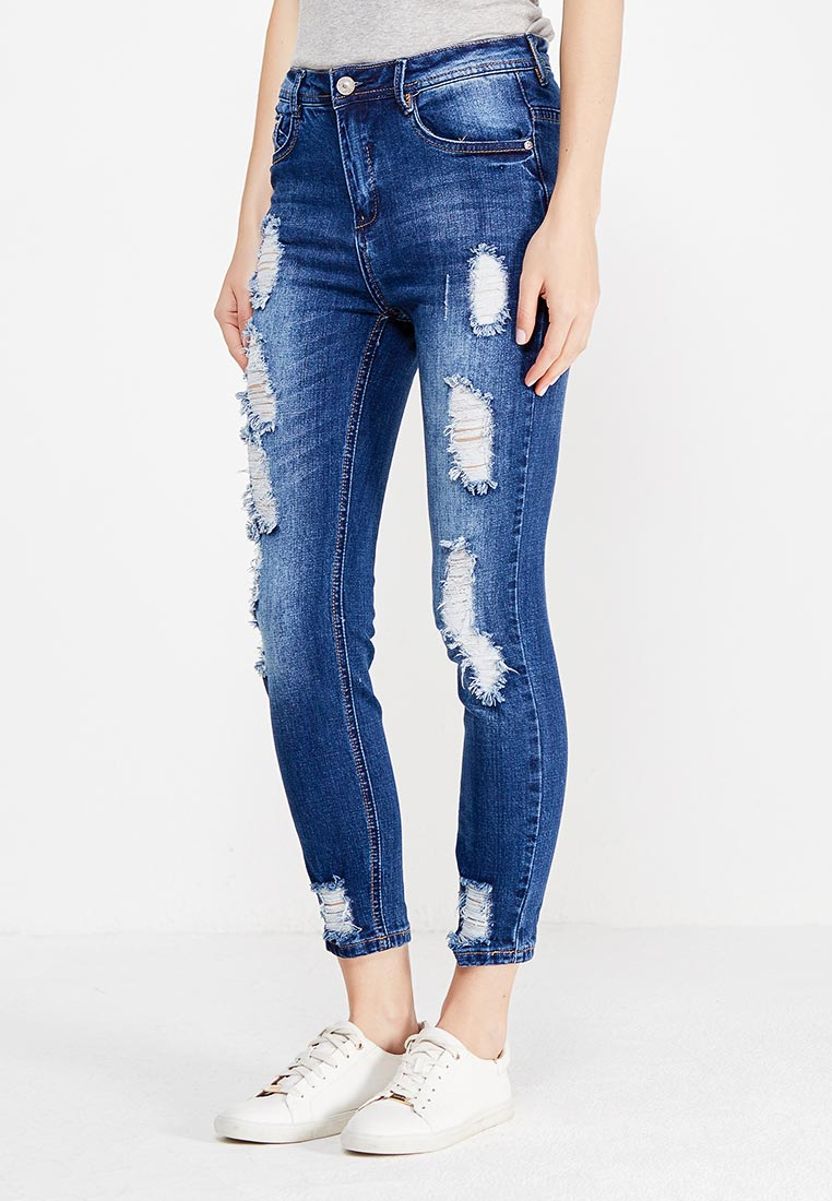 Зауженные джинсы oodji (Оджи) 12103156/46787/7900W