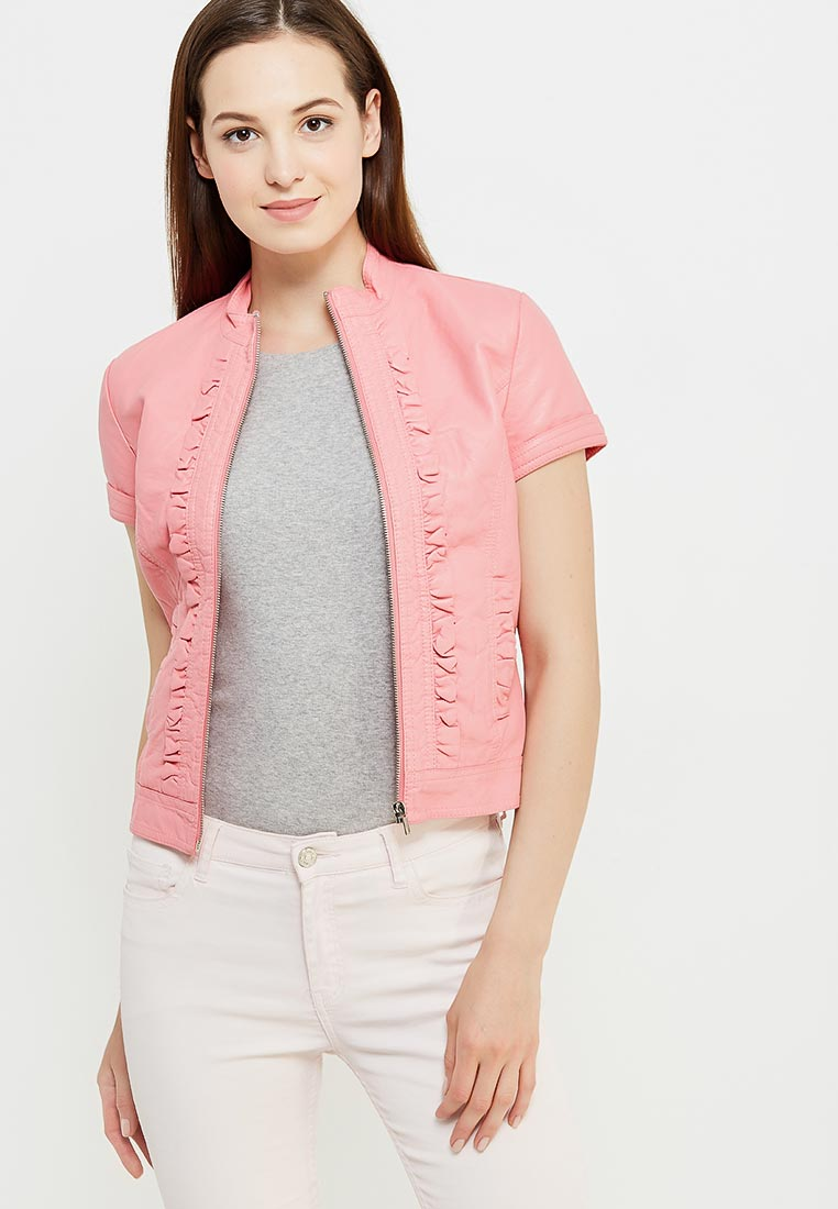 Кожаная куртка oodji (Оджи) 10303022/18432/4100N