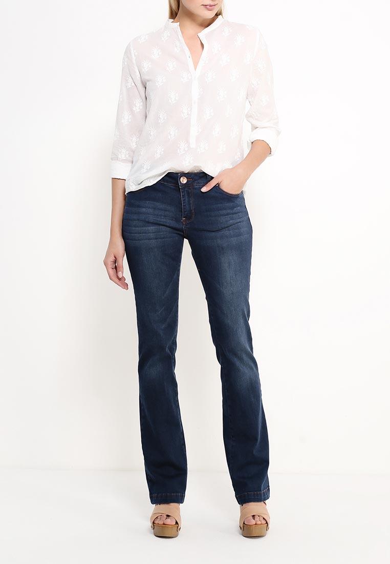 Широкие и расклешенные джинсы oodji (Оджи) 22102015-1/19997/7900W: изображение 2