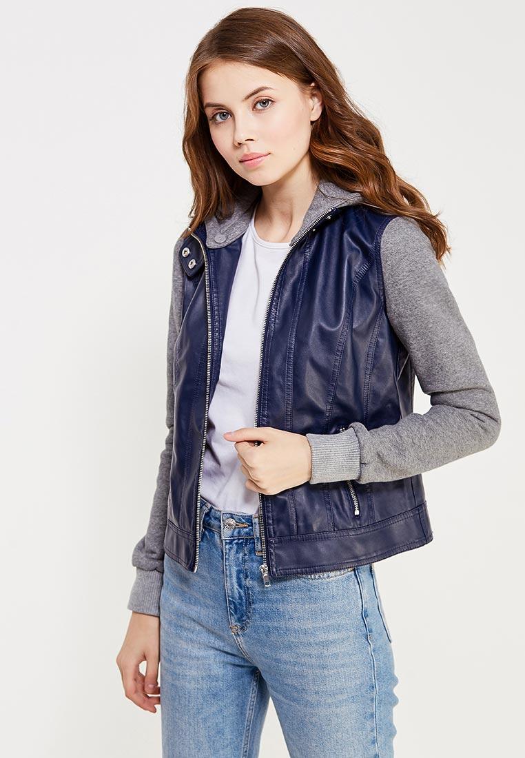 Кожаная куртка oodji (Оджи) 18A03003/31674/7923B