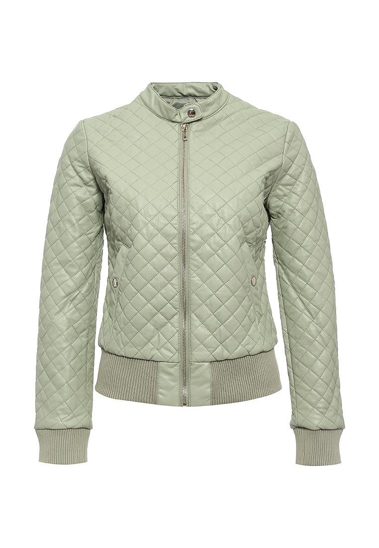 Кожаная куртка oodji (Оджи) 28A03001/45639/6000N