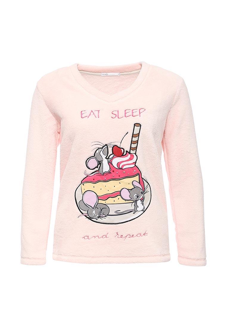 Домашняя футболка oodji (Оджи) 59811013-1/38319/4041P