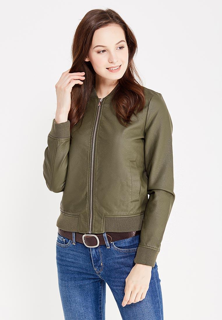 Кожаная куртка oodji (Оджи) 18A03005/43585/6800N