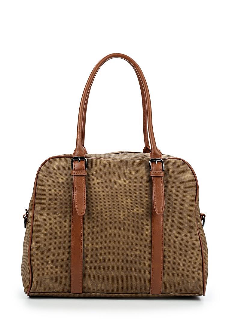 Дорожная сумка Pola 78510 D.Green/Brown