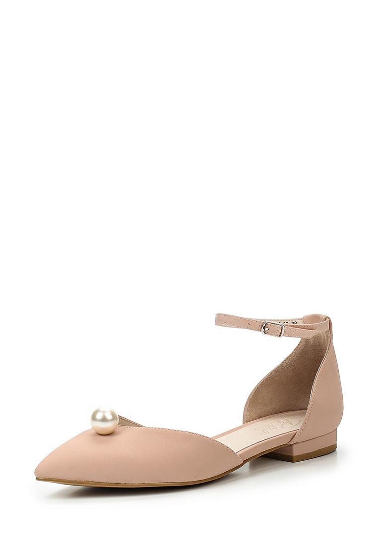 Туфли на плоской подошве Portal PRL1780-07 beige-17L