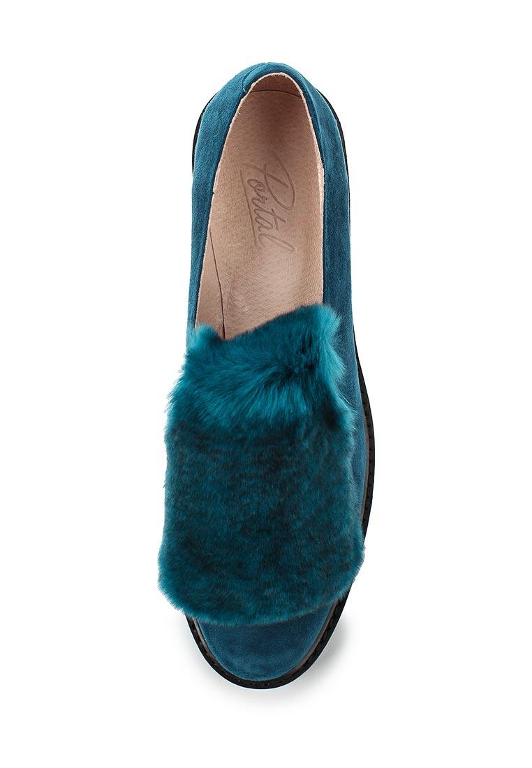Женские лоферы Portal PRL1169-01 turquoise-17Z: изображение 4