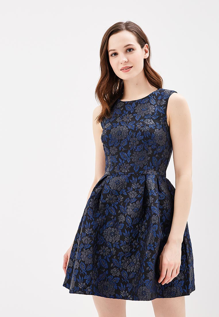 Платье QED London NL1866 A BLACK/BLUE