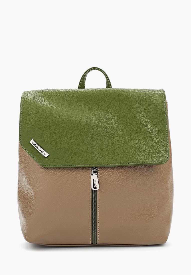 Городской рюкзак Savio №807С-172ЗЕЛЕН/168БЕЖ