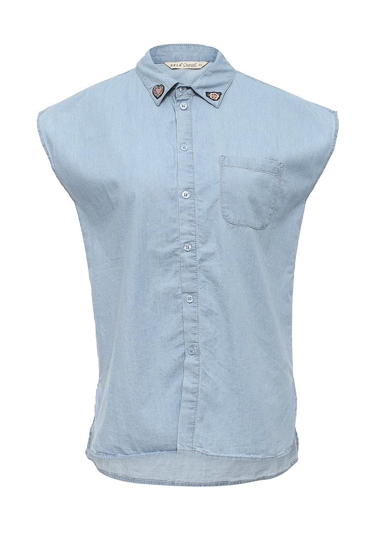 Женские джинсовые рубашки Sela (Сэла) Bjs-332/029-7213
