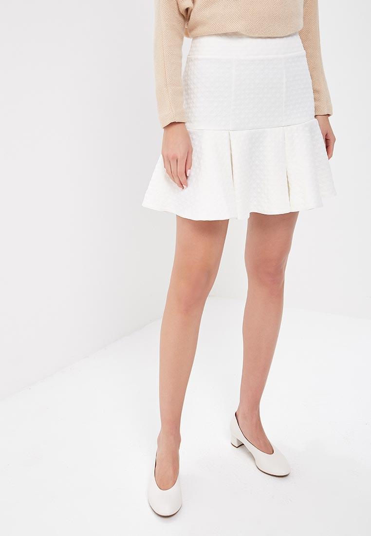 Прямая юбка SK House #2211-1296бел