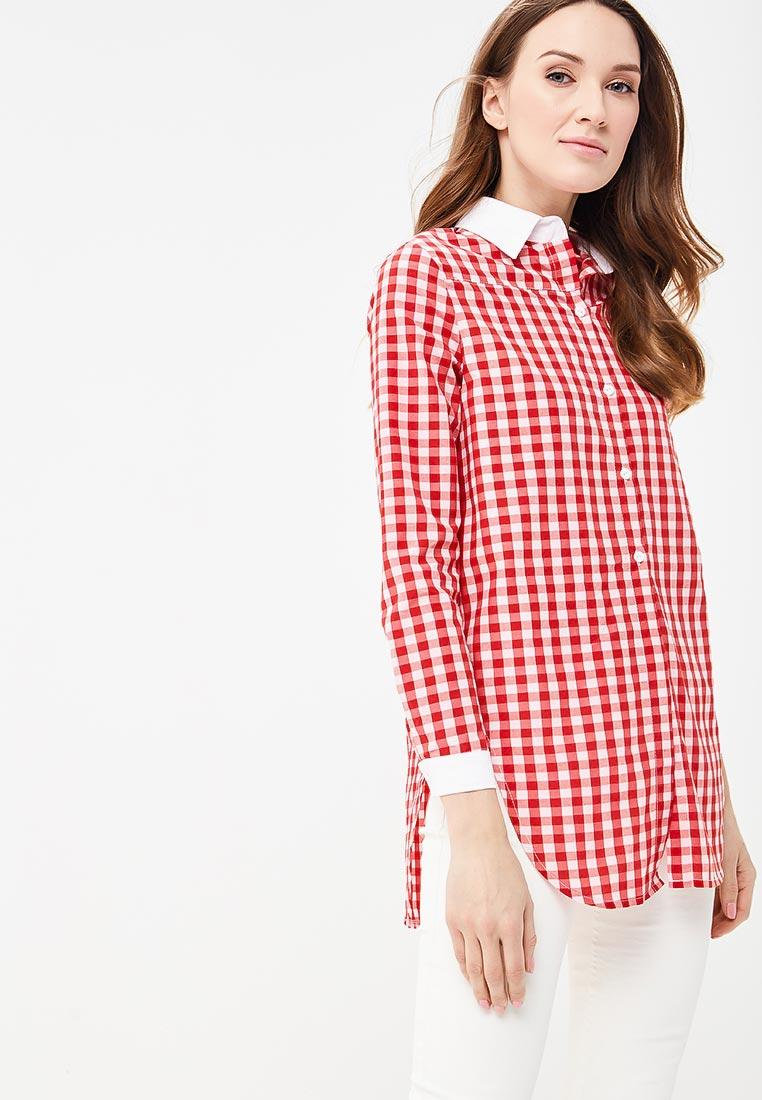 Женские рубашки с длинным рукавом SK House #2211-294 крас.