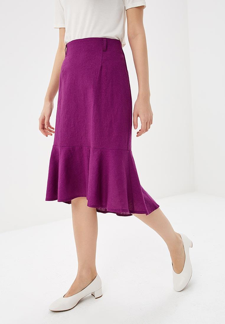 Широкая юбка SK House #2211-GR2101 фиол.
