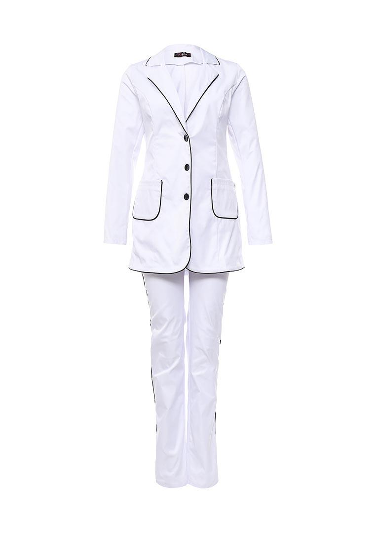 Костюм с брюками SK House #2211-6104бел