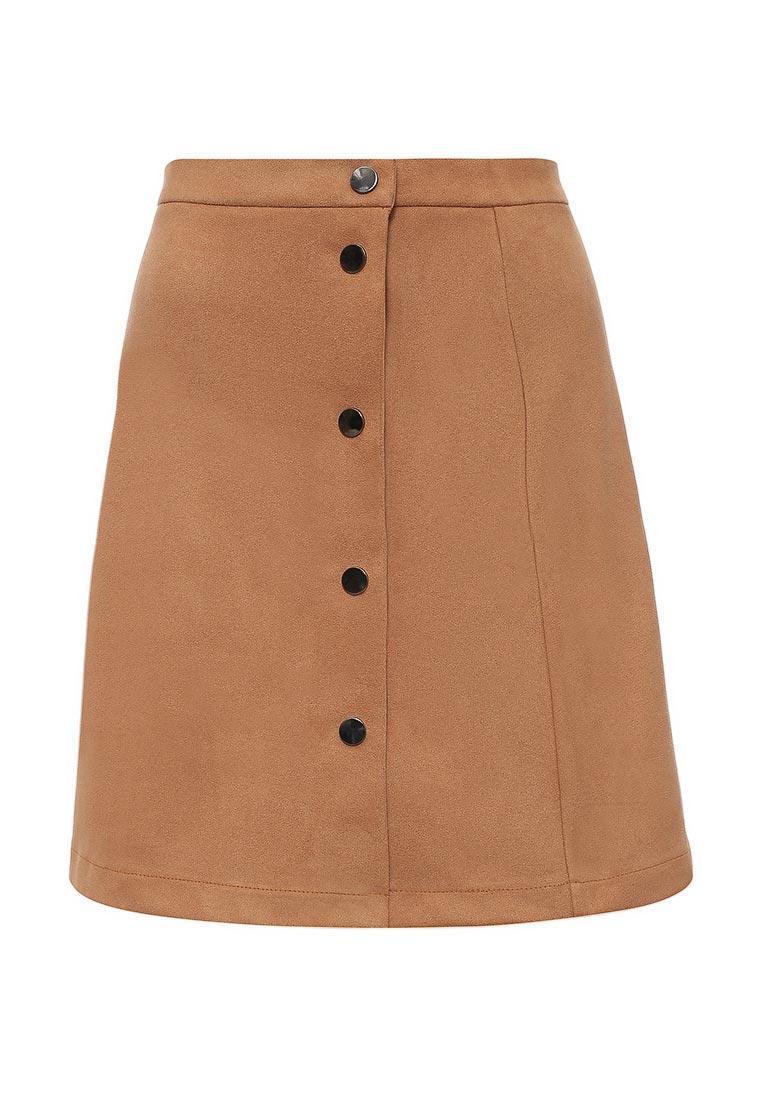 Прямая юбка SK House #2211-8404 горч.