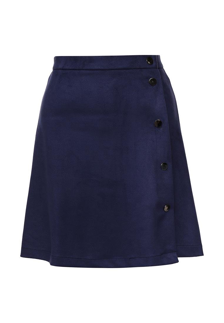 Прямая юбка SK House #2211-8404 син.