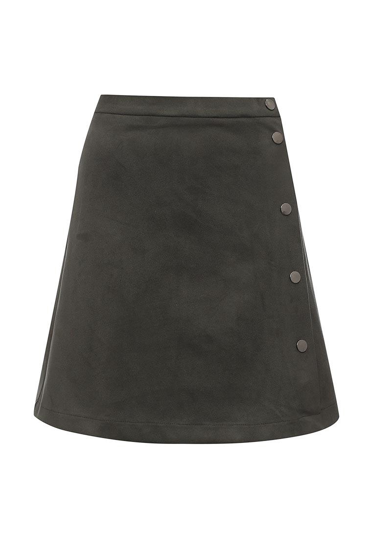 Прямая юбка SK House #2211-8404 тем-зел.