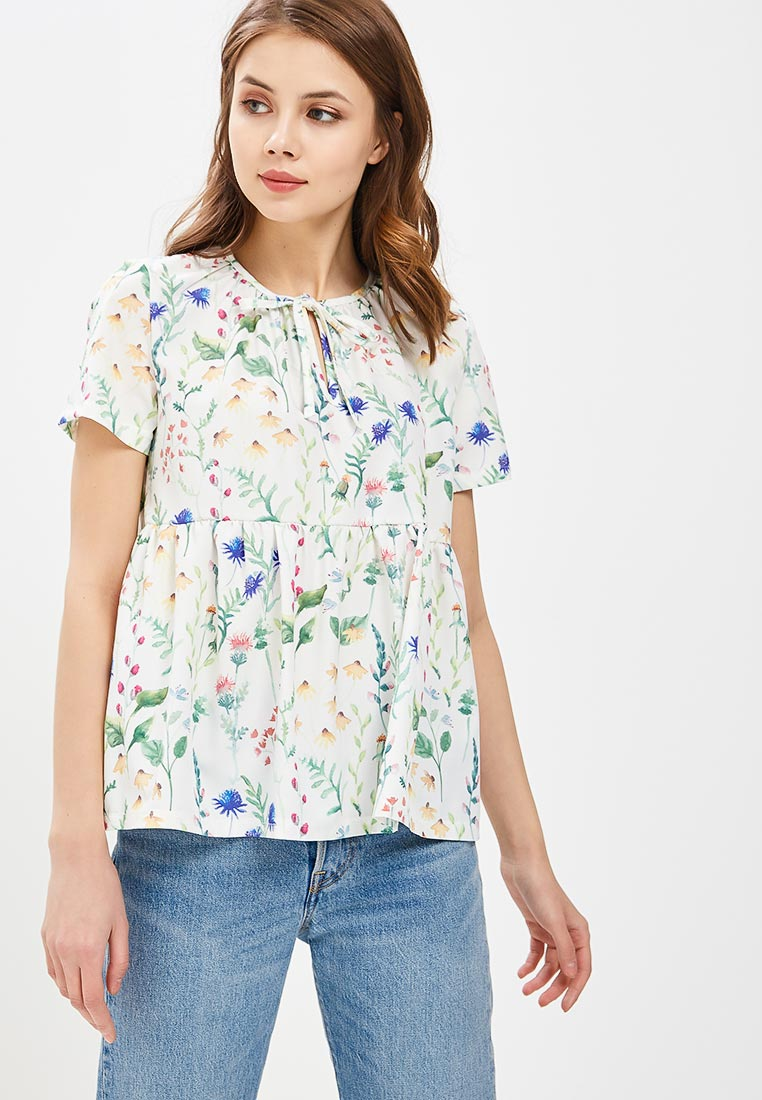 Блуза 1st Somnium Z13_WHITE_FLOWERS