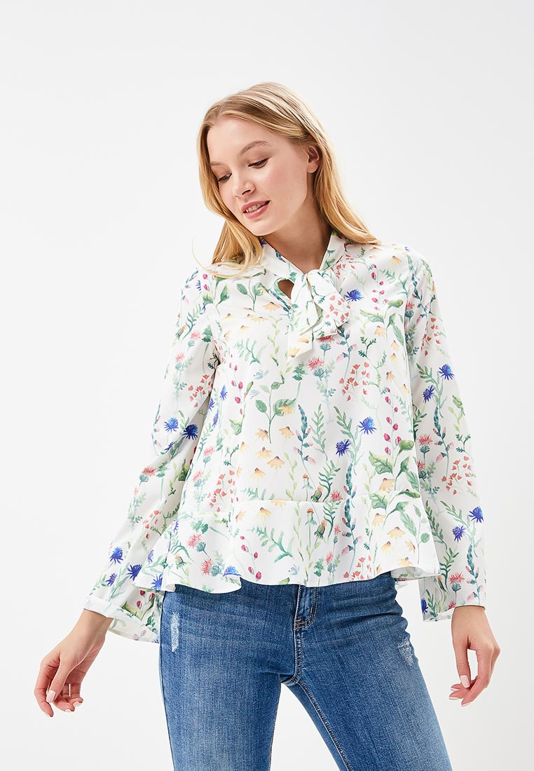 Блуза 1st Somnium Z16_WHITE_FLOWERS