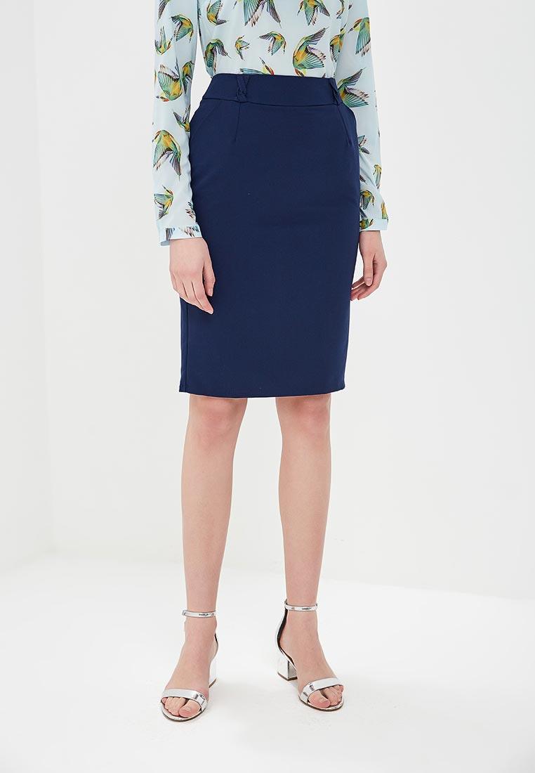 Прямая юбка Stylove S008-navy blue