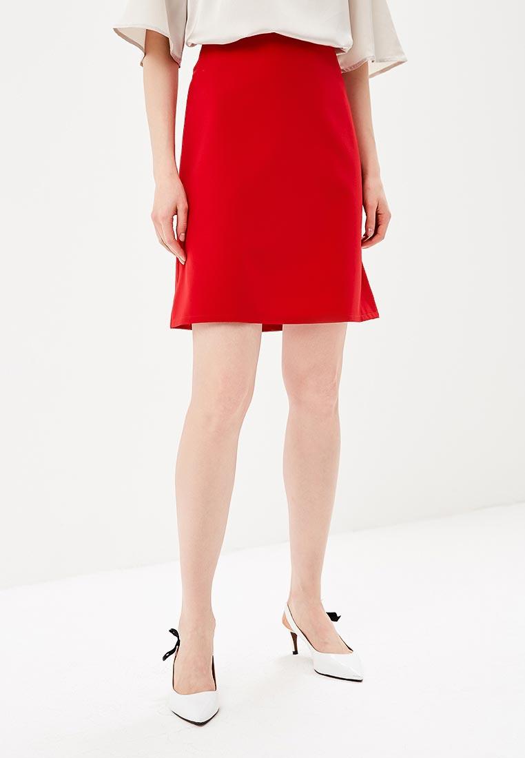 Прямая юбка Stylove S062-red