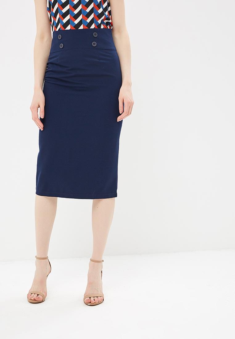 Прямая юбка Stylove S065-navy blue