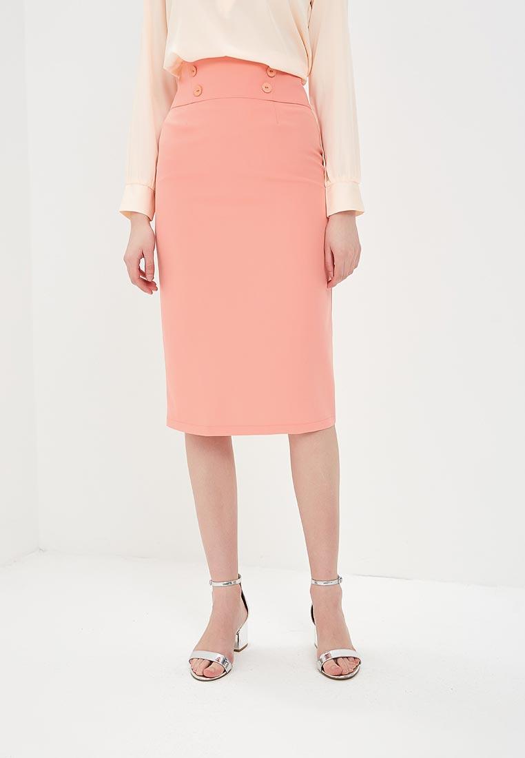 Узкая юбка Stylove S065-salmon pink
